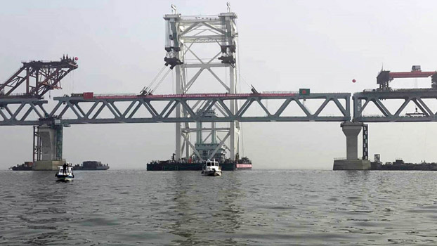 The 41st and last spontaneous installation of the dream Padma Bridge has been completed.