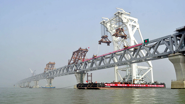 The 41st and last spontaneous installation of the dream Padma Bridge has been completed